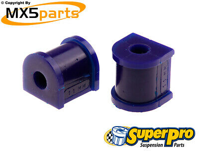MX5 Superpro Rear Anti Roll Bar Polyurethane Bush Kit Mazda MX-5 Mk3 NC 2005>15
