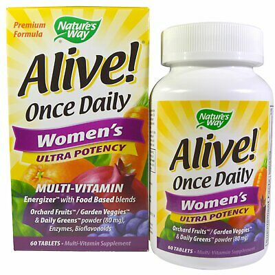 Nature's Way Alive! Once Daily Women's Ultra Potency, Multi-Vitamin & Whole Food