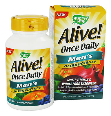 Nature's Way Alive! Once Daily, Men's Ultra Potency Multi-Vitamin & Whole Food E
