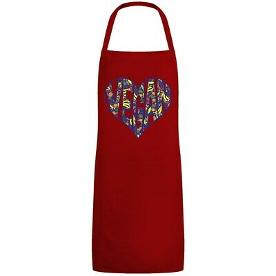 Apron Vegan Heart Red