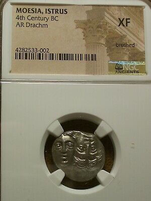 Moesia, Istrus 4Th Century Bc Ar Drachm Extra Fine Ngc - Xf
