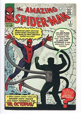 Amazing Spider-Man #3 Vol 1 Near Perfect High Grade 1st App of Doctor Octopus