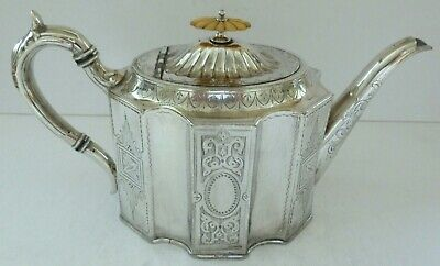 Antique Silver Plate EPNS James Deakin & Son Embossed Teapot Sheffield P3152