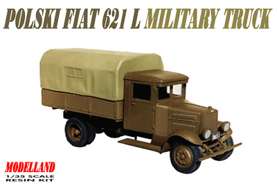 Polski Fiat 621L Military Truck (Polish Army 1939 Markings) 1/35 Modelland Resin