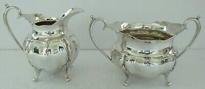Antique Silver Plate EPNS Neoclassical Sugar Bowl Milk Jug Teapot Tea Set A1