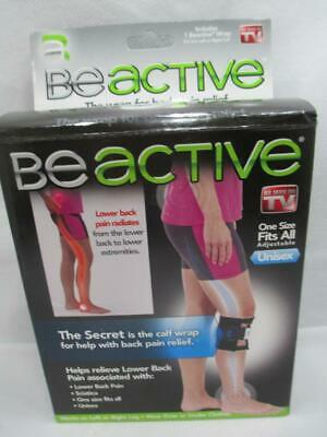 e8c146073f Be Active Calf Wrap AS SEEN ON TV Helps Relieve Sciatica Back Pain Men Women