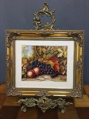Orignal Oil On Board Painting In Gold Gilt Frame, Signed