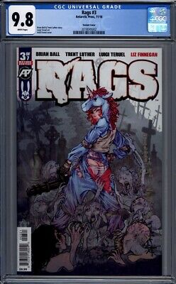 Rags #3  Exposed Variant  Antarctic Press   1st Print  CGC 9.8