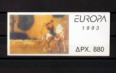 GREECE, GREEK STAMPS 1993, Europa cept contemporary art booklet, MNH