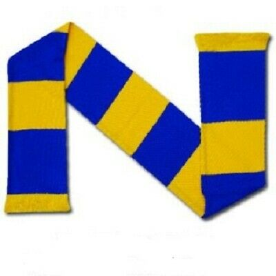Royal Blue And Yellow Unisex Supporters Retro Bar Scarf