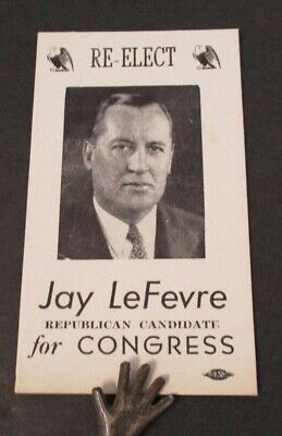 1940s Re-Elect JAY LeFEVRE Republican to Congress Ink Blotter
