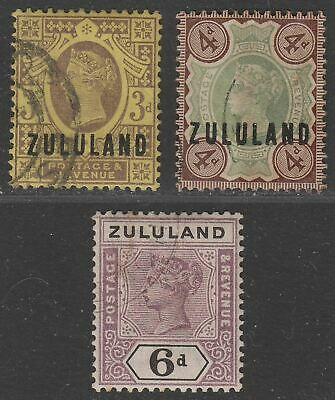 Zululand 1888-94 Queen Victoria Selection to 6d Used