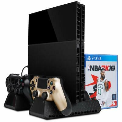 PS4 Cooling Stand Noiseless Vertical Console Charger Multifunctional Cooler