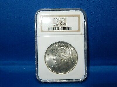 1923 Peace Silver Dollar Coin - NGC MS 64