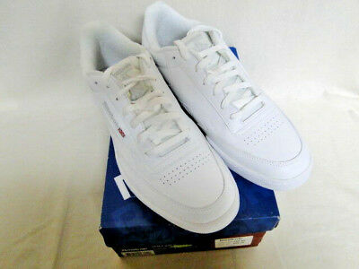 b920023f5cb New Men s Reebok Classic Club C White Gym Shoes Sneakers Size 11 Wide  6-161596