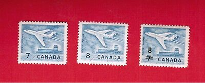 1964  # 414 + 430 + 436  ** Vfnh  Timbres  Canada  Stamps  Jet Plane  Dc18