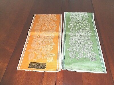 Pair of matching Antique 100% Linen Hand towels  New with tag