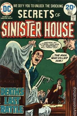 Secrets of Sinister House #17 1974 VG+ 4.5 Stock Image Low Grade