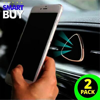 2 PACK 360 Rotate Magnetic Car Mount Holder Air Vent Stand Universal Cell Phone