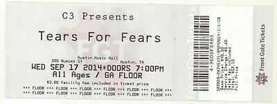 Cool TEARS FOR FEARS & CARINA ROUND 9/17/14 Austin TX Concert Ticket!