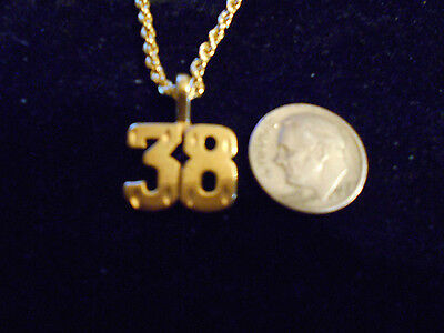 bling gold plated game fashion jewelry number 38 pendant charm hip hop necklace