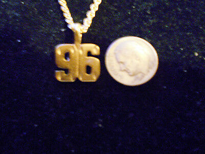 bling gold plated game fashion jewelry number 96 pendant charm hip hop necklace