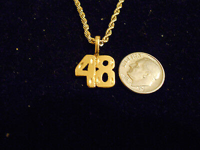 bling gold plated game fashion number 48 pendant charm hip hop necklace JEWELRY