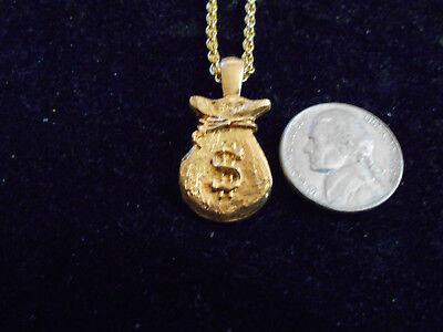 bling gold plated money BAG casino RAPPER FASHION PENDANT charm necklace JEWELRY