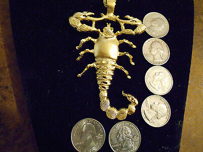 bling gold plated myth stonehenge celt bug egypt scorpion zodiac charm necklace