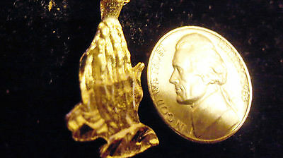bling gold plated religious jesus praying hand charm hip hop necklace JEWELRY GP