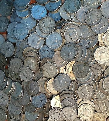 Roll of 20 Coins Franklin Silver Half Dollars $10 Face 90% FREE SHIPPING