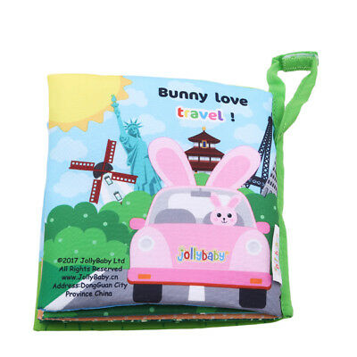 Soft Newborn Baby Cloth Book Early Educational Crib Toys For 0-36 Months Toy HC