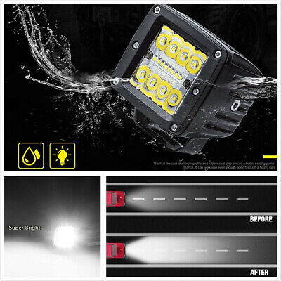 1 Pair 6500K Cool White Super Bright 19200LM 240W Car Spot Flood LED Work Lights