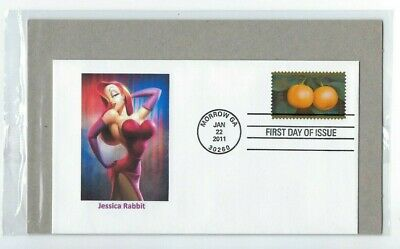 Jessica Rabbit Chinese Lunar New Year (of the Rabbit). Forever Postage Stamp FDC