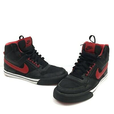 26f557b9a48a3 NIKE DELTA FORCE Men's Red Black Leather High Top Sneakers 370424-060 Size  12