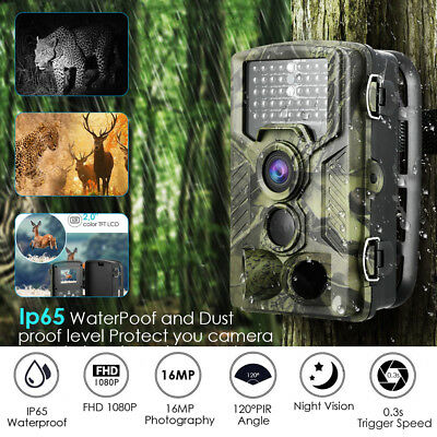 Caméra de Chasse 16MP HD1080P IR Vision Nocturne étanche Outdoor Animal Infrared