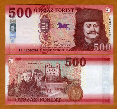 Hungary, 500 Forint, 2018 (2019), P-New, redesigned UNC