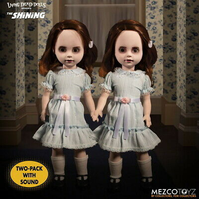 "Mezco Toyz 10"" Living Dead Dolls The Shining Twins Figure Two-Pack With Sound"