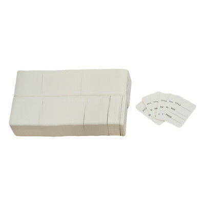 1000 PCS Small WHITE Merchandise Tags Price Jewelry Garment Store Paper Card