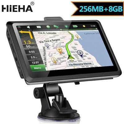 "Hieha 7"" Car HGV GPS SAT NAV 8GB 256MB Navigation System Free UK Map Lifetime"