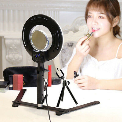 8'' LED Dimmable Ring Light +Stand+Selfie+Camera Phone holder for Studio Photo