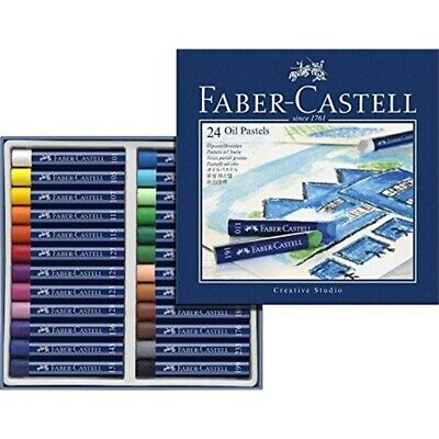 Box Of 24 Creative Studio Oil Pastels - Fabercastell Pastel Set Crayons
