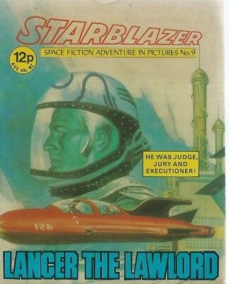 Lancer The Lawlord,starblazer Space Fiction Adventure In Pictures,comic,no.9