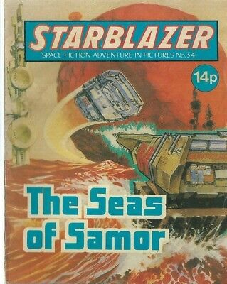 The Seas Of Samor,starblazer Space Fiction Adventure In Pictures,comic,no.34