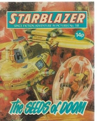 The Seeds Of Doom,starblazer Space Fiction Adventure In Pictures,comic,no.38