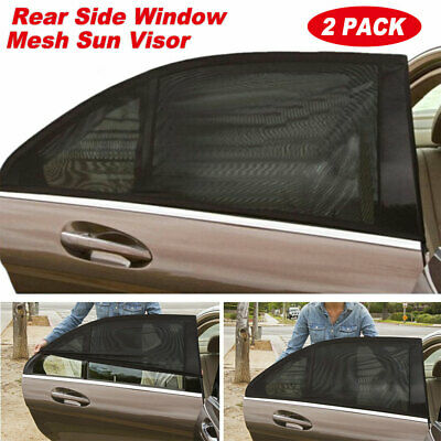 2x Car Auto Sun Shade Cover Rear Side Window Kids Baby UV Protection Block Mesh