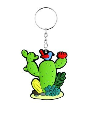 Cute Cactus Keychain Prickly Cacti Rubber