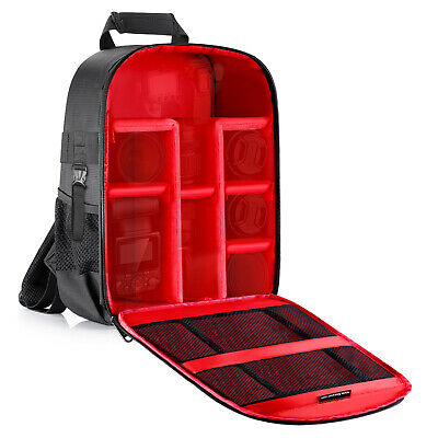 """Neewer Red 11.8x5.5x14.6"""" Waterproof Pro Camera Case Backpack with Tripod Holder"""
