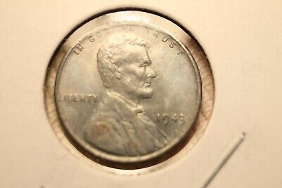 1943-P Lincoln Steel Wheat Cent Penny Uncirculated Nice Coin A45