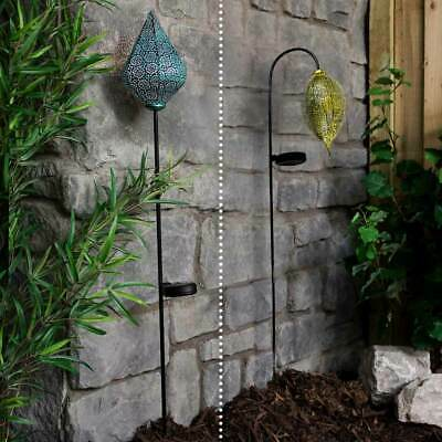 Solar Power Outdoor LED Moroccan Stake Lights | Walkway Path Landscape